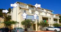 Villa Dalmatino - Studio-Apartment mit Balkon (3 Erwachsene) - Komarna