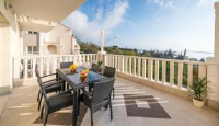 Villa Samba - Dvokrevetna soba s bračnim krevetom i balkonom s pogledom na more - Sobe Mlini