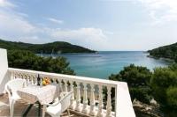 Apartments Franka Saplunara - Dreibettzimmer mit Terrasse und Meerblick - Zimmer Kroatien