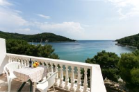 Apartments Franka Saplunara - Twin Room with Terrace and Sea view - Apartments Polje