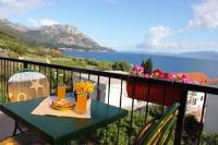 Guesthouse Podaca - Dvokrevetna soba s bračnim krevetom i balkonom s pogledom na more - Sobe Zecevo Rogoznicko
