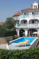 Villa Angela - Apartment mit 1 Schlafzimmer und Terrasse - krk strandhaus