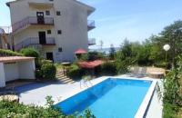 Apartment Katica - Chambre Quadruple avec Terrasse - Chambres Crikvenica