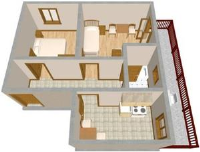 Apartmani Bilen - Studio mit Meerblick - Ferienwohnung Icici