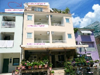 Apartmani & Sobe Vujčić - Studio apartman za 2+1 osobu (Violet) - apartmani blizu mora makarska